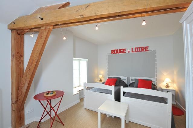 La chambre Rouge & Loire